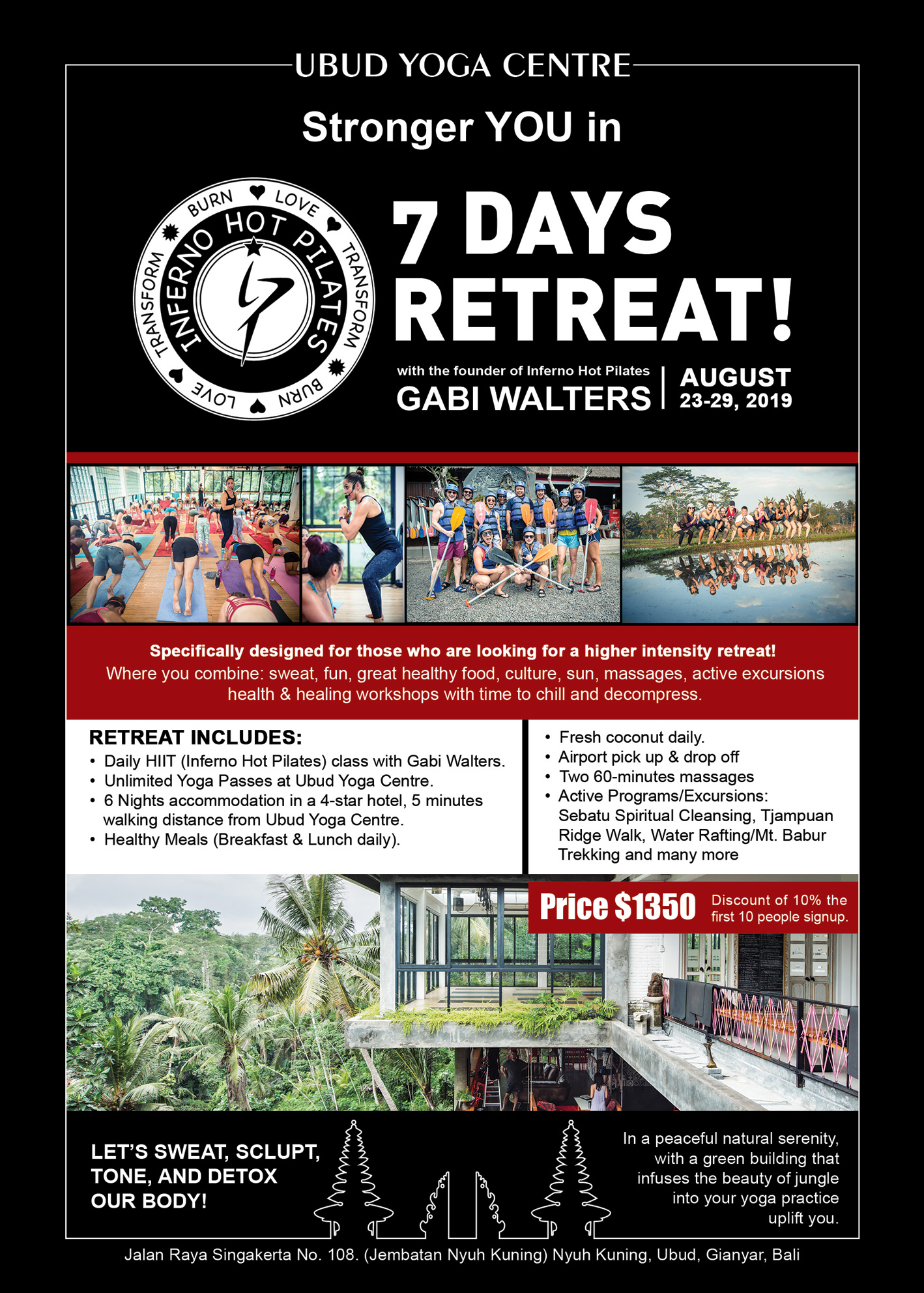 Carte Bali Avec Aeroport.7 Days Hot Pilates And Yoga Retreats With Gabi Walters Ubud Yoga